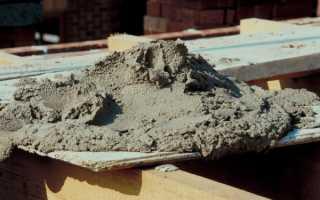 Как сделать цементный раствор: технология