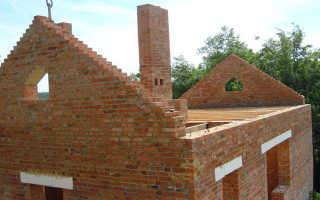 Как сделать кладку фронтона из кирпича – руководство для двухскатной крыши