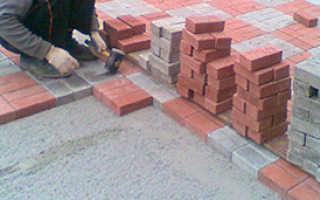 Как правильно положить тротуарную плитку на бетонное основание