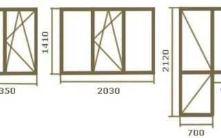 Размер оконного проема в кирпичном доме