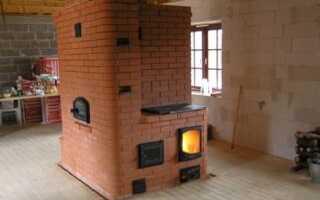 Как сделать кирпичную печь для дома на дровах своими руками