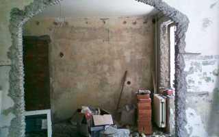 Инструкция по устройству проема в несущей кирпичной стене