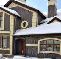 Кирпичные фасады дома