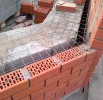 Несущие стены из газобетонных блоков с облицовкой кирпичом