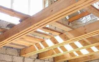 Деревянные перекрытия в доме из кирпича