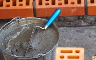 Как приготовить раствор для кладки кирпича: пропорции