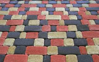 Схемы раскладки тротуарной плитки Старый город; варианты узоров