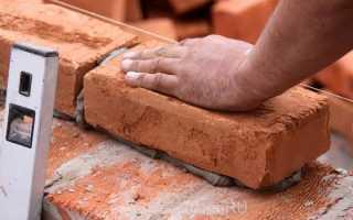 Какие нужны пропорции цемента и песка для кирпичной кладки