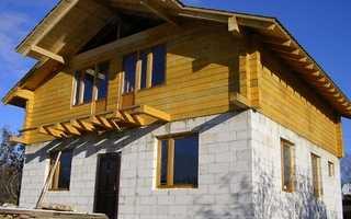 Строительство комбинированного дома из газобетона и бруса в Москве под ключ