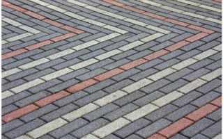 Разнообразие схем укладки тротуарной плитки; Кирпич