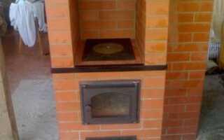 Маленькая печь для дачи из кирпича своими руками