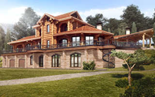 Проекты комбинированных домов от ГК «Городлес»