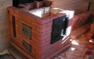 Печь из кирпича для обогрева гаража