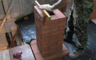Как сделать печную трубу (дымоход) из кирпича своими руками