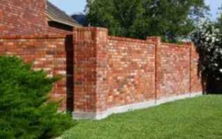 Как сделать кирпичный забор своими руками