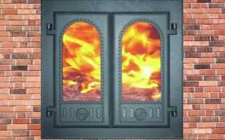 Способы крепления печных и каминных дверей
