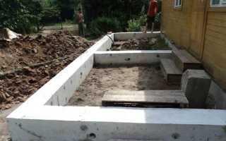 Делаем фундамент под пристройку к дому своими силами