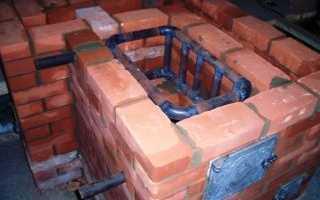 Печь из кирпича с котлом водяного отопления своими руками