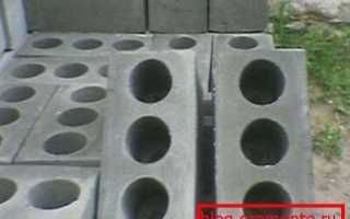 Цементный кирпич: виды